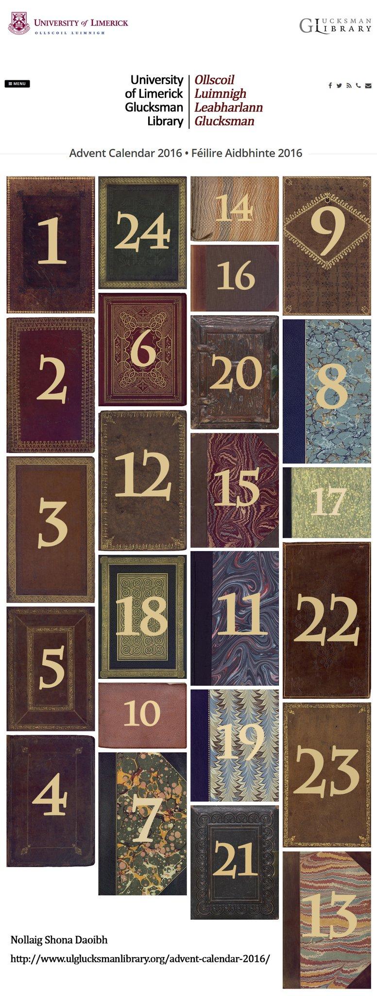 countdown to christmas with the glucksman librarys 2016 advent calendar conul